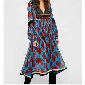 ISO: Free People bold blooms embroidered dress
